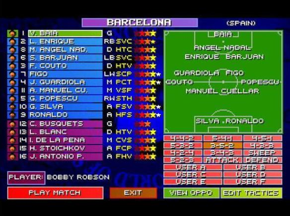 Sensible Soccer tactics