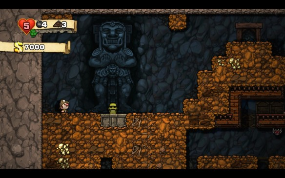 Spelunky Raiders of the Lost Ark Golden Idol