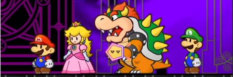 Super Paper Mario Luigi Peach Bowser