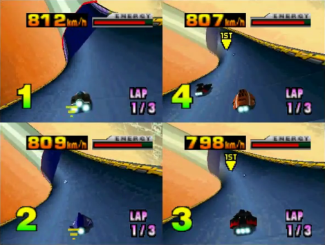 F-Zero X N64 Multiplayer