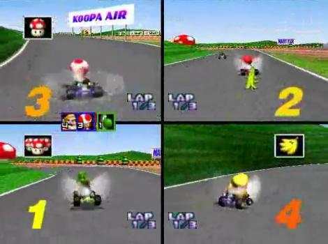 Mario Kart 64 Versus Multiplayer