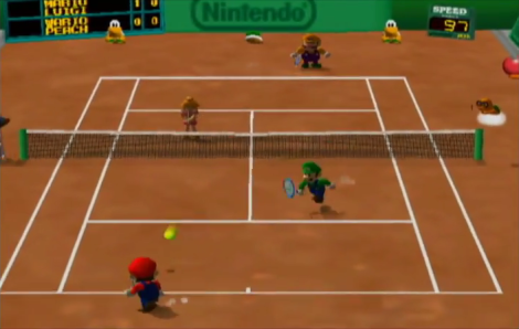 Mario Tennis Clay Court